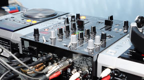 DJ panel Stock Image