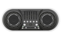 Dj panel console sound mixer vector illustration Royalty Free Stock Image