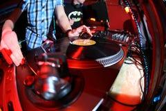 DJ-Panel-Musik Stockfoto