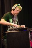 DJ Party Ben perform on stage at Zold Pardon Royalty Free Stock Image