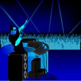 DJ party blue royalty free illustration