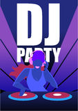 Dj Party In Night Club Vector Concept Stock Images