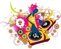 DJ pattern Royalty Free Stock Photo