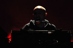 DJ Paul Kalkbrenner from Berlin, Germany performs live on the stage Stock Photo