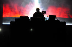 DJ Paul Kalkbrenner from Berlin, Germany performs live on the stage. CLUJ-NAPOCA - JULY 18: DJ Paul Kalkbrenner from Berlin, Germany performs live on the stage Royalty Free Stock Photography