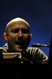 DJ Paul Kalkbrenner from Berlin, Germany performs live on the stage Stock Images