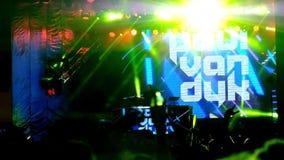Dj Paul Van Duk performing at Lenovo Moto Festival stock video footage