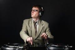 DJ pelirrojo divertido Fotos de archivo libres de regalías