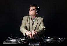 DJ pelirrojo divertido Fotos de archivo