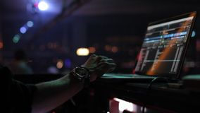Dj performance night Stock Image