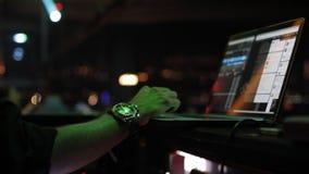 Dj performance night stock footage