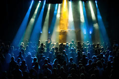 Dj performance in nightclub. The crowd during a performance dj in a nightclub Royalty Free Stock Photo