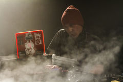 DJ performs Royalty Free Stock Photo