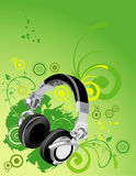 Dj phones vector composition Stock Photo