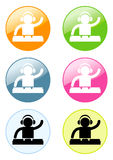 Dj pictogram Stock Images