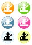 DJ- pictogram Stock Afbeeldingen
