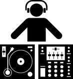 dj-pictogram Royaltyfri Foto