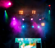 DJ place on scene at nightclub Royalty Free Stock Photos