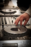 DJ play music Royalty Free Stock Image