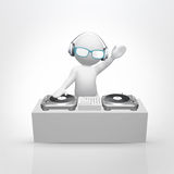 Dj play music Stock Photo