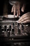 DJ play music Royalty Free Stock Images