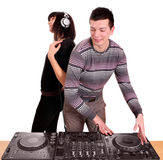 Dj play music Stock Photography