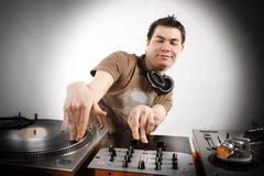 Dj playing. Disco house progressive electro music Stock Photo