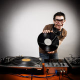 Dj playing. Disco house progressive electro music Royalty Free Stock Image