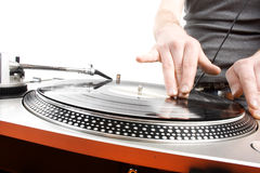 Dj playing Royalty Free Stock Photos