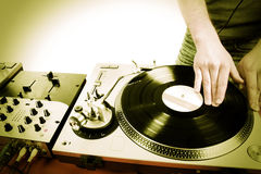 Dj playing Royalty Free Stock Photo