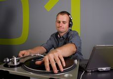 Dj playing Stock Images
