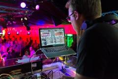 DJ playing  Stock Images