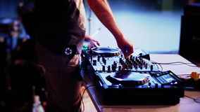 Dj playing in club stock video footage