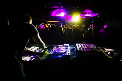 DJ Playing in a Club Royalty Free Stock Image
