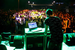 DJ Playing in a Club Stock Image
