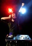 DJ playing music Royalty Free Stock Photos