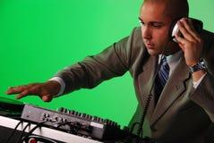 DJ playing music. Stock Photos