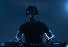 DJ playing music. Royalty Free Stock Photos