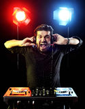 DJ playing music Royalty Free Stock Images