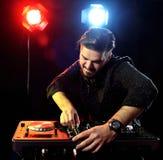 DJ playing music Stock Photo