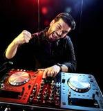 DJ playing music Royalty Free Stock Image
