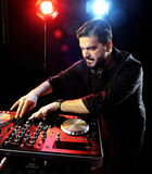 DJ playing music Royalty Free Stock Photo