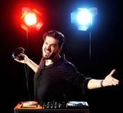 DJ playing music Stock Image
