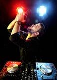 DJ playing music Royalty Free Stock Photo