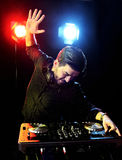 DJ playing music Stock Photography