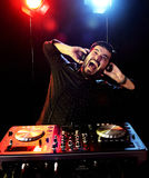 DJ playing music stock photos
