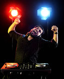 DJ playing music Stock Images