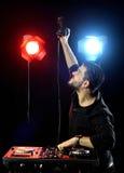 DJ playing music Royalty Free Stock Photography