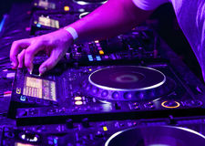 Dj playing the track Royalty Free Stock Photography