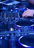 Dj playing the track Stock Image